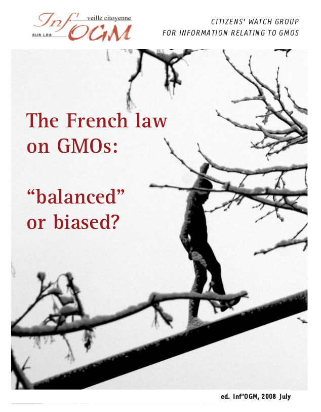 "The French law on GMOs: ""balanced"" or biased?"